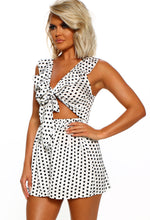Polka Dot Frill Playsuit