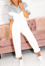 White Sporty Jumpsuit