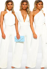 Total Knockout White Slinky Multi Way Jumpsuit