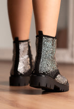 Diamante Studded Biker Boots