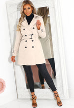 Women's Nude Trench Jacket