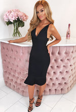Black Peplum Bandage Dress