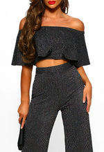 Silver Lurex Crop Top