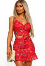Red Floral Co-ord