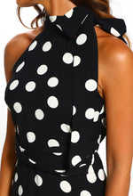 Halterneck Polka Dot Dress - Detail View