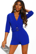 Cobalt Belted Tailored Playsuit