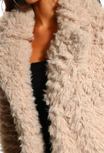 Fluffy Faux Fur Jacket - Detail View