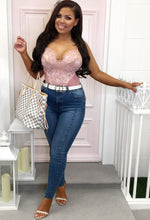 Blue Skinny Jeans Outfit - Full Length View