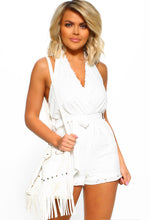 White Tie Playsuit - Front View