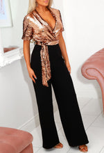 Gold Tailored Sequin Jumpsuit