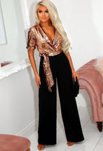 Sequin Top Tailored Jumpsuit
