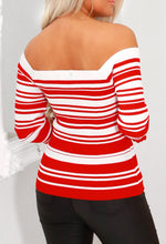 Bardot Striped Knit Top
