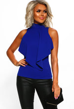 Cobalt Blue Frill Top