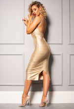 Bandage Dress in Gold