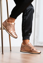 Rose Gold Studded Trainers