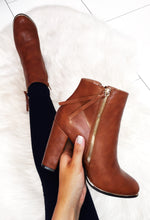 Tan Heeled Ankle Boots