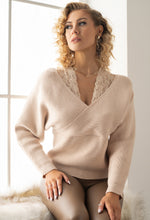 Lace Insert Knit Jumper