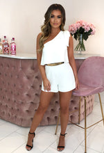 Hello Darling White Bow Shoulder Tailored Playsuit