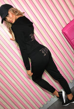 Hey Hun Black Hooded Lounge Set