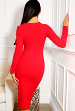Red Occasion Midi Dress