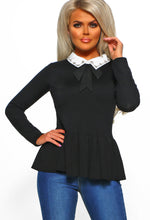 Black Bow Detail Jumper - Front View