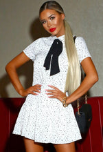 Polka Dot Mini Dress in White