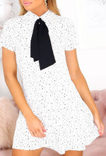 White Polka Dot Mini Dress