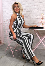 On The Spot Multi Polka Dot Halterneck Wide Leg Jumpsuit