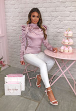 Rose Pink Long Sleeve Blouse