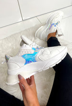 White Holographic Chunky Trainers