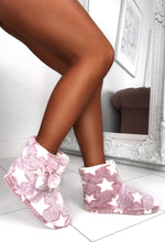 Pink Fluffy Boot Slippers