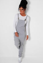 In The Mix Grey Jersey Dungaree Jumpsuit