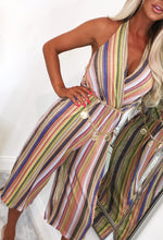 Multi Stripe Metallic Jumpsuit