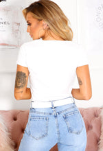 White Short Sleeve T-Shirt - Back View