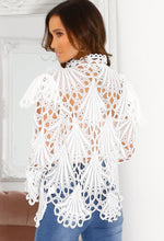 Long Sleeve White Lace Blouse