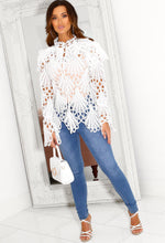 High Neck Crochet Blouse