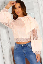 Pink Crochet Lace Blouse