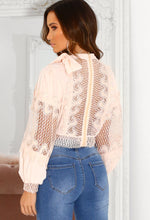 Cut Out Lace Detail Blouse
