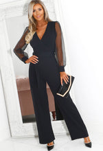 Mesh Sleeve Jumpsuit