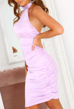 Lilac Halterneck Dress