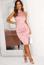 Pink Halterneck Mini Dress