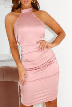 Pink Halterneck Party Dress