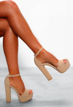 Nude Chunky Heels - Side View