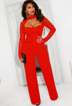 Red Cut Out Jumpsuit