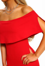 Bardot Neckline Dress - Detail View