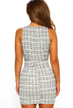 White Tweed Mini Dress