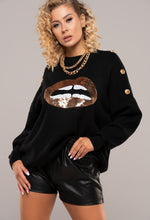 Black Sequin Design Jumper