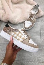 Houndstooth Panel Trainers