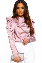 Rose Pink Satin Blouse