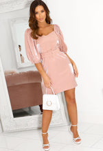 Pink Belted Mini Dress